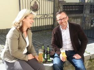 Steffi Franze (Eibauer) und Marko Weber (Org.-TEAM Gebirgslauf)
